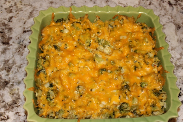 No-Canned-Soup Broccoli, Chicken, Cheddar Casserole