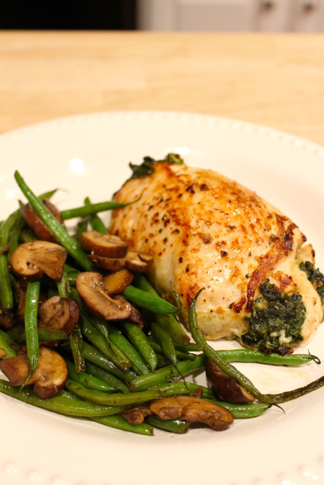 Stuffed Chicken with Spinach and Goat Cheese
