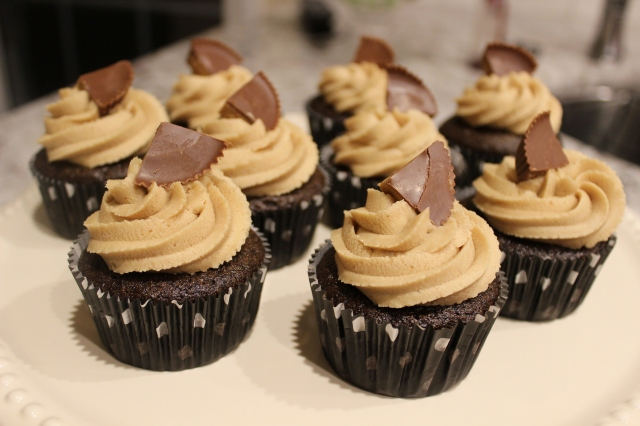 Gluten Free Chocolate Peanut Butter Cupcake