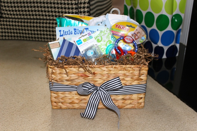 gift basket for a baby shower