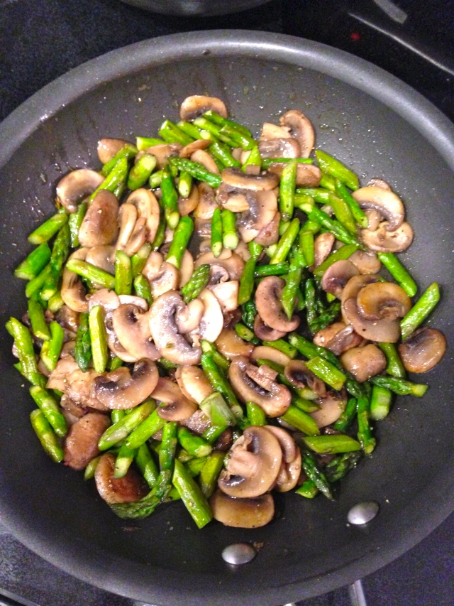 Asparagus and Mushrooms for Frittata