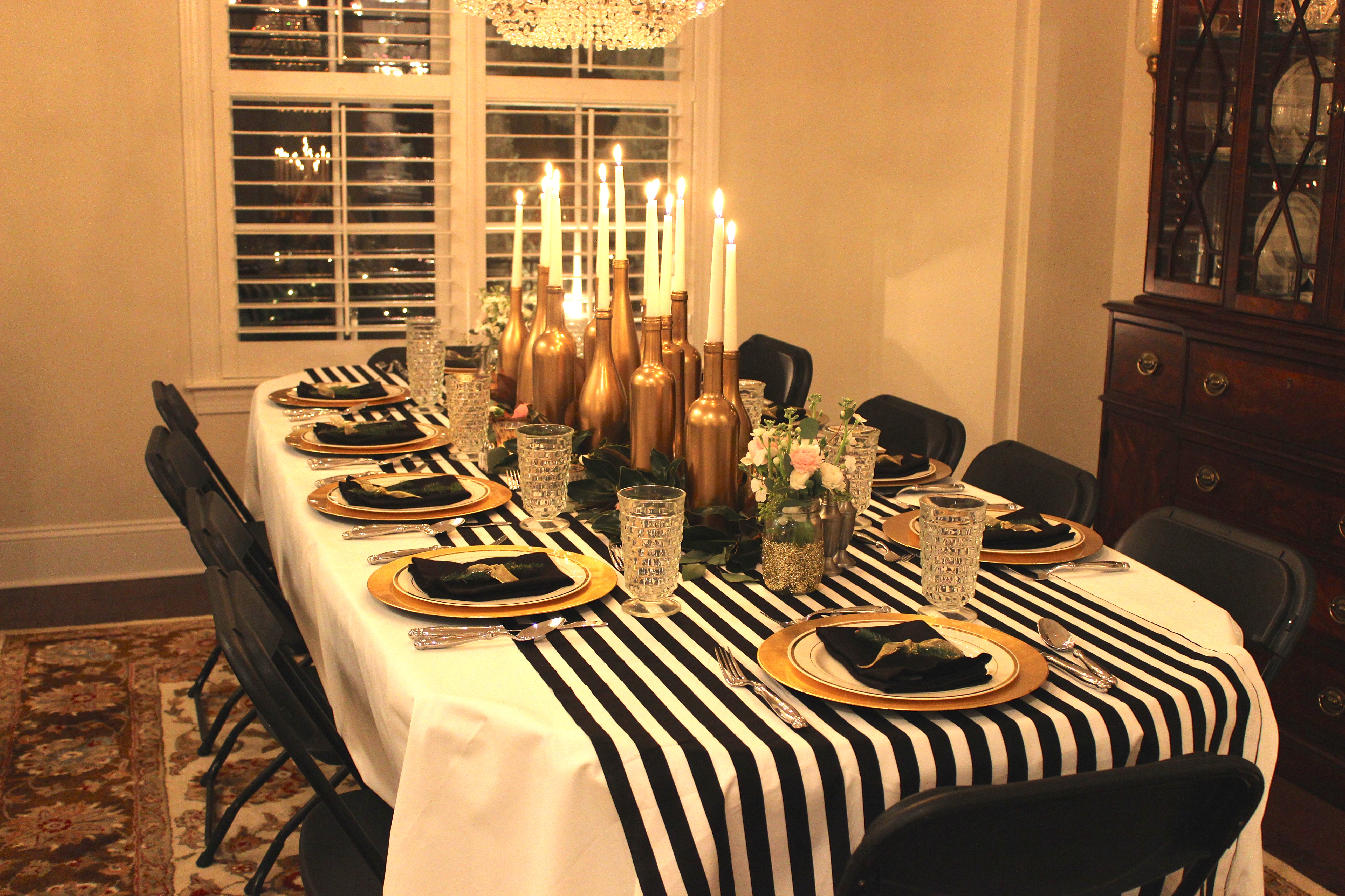 Black And White Party Centerpieces