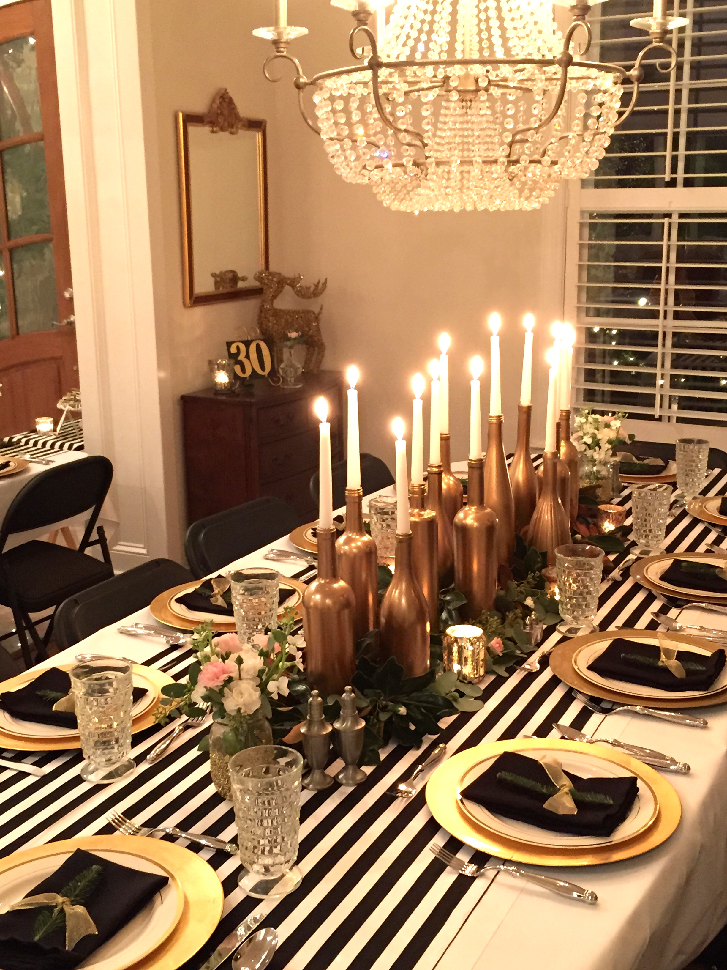 30th Birthday Decor Black And White With Gold Accents Party