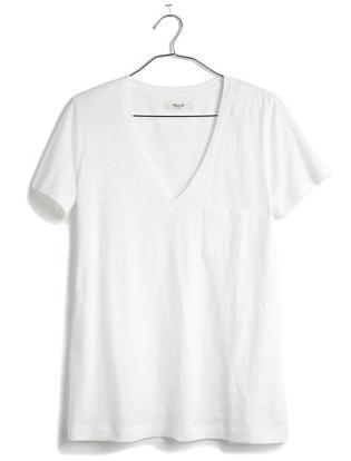 madewell boyfriend v-neck t-shirt