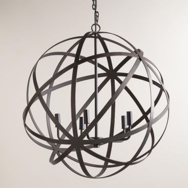 Metal Orb Chandelier