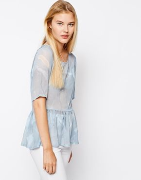 Asos loose peplum top