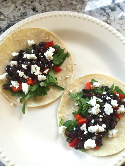 healthy black bean tacos