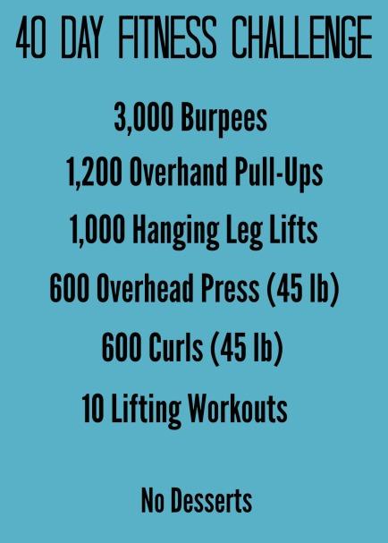 Men's 40 Day Fitness Challenge
