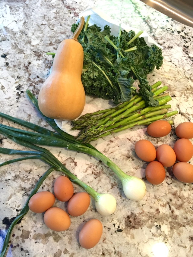 CSA produce in April, North Carolina