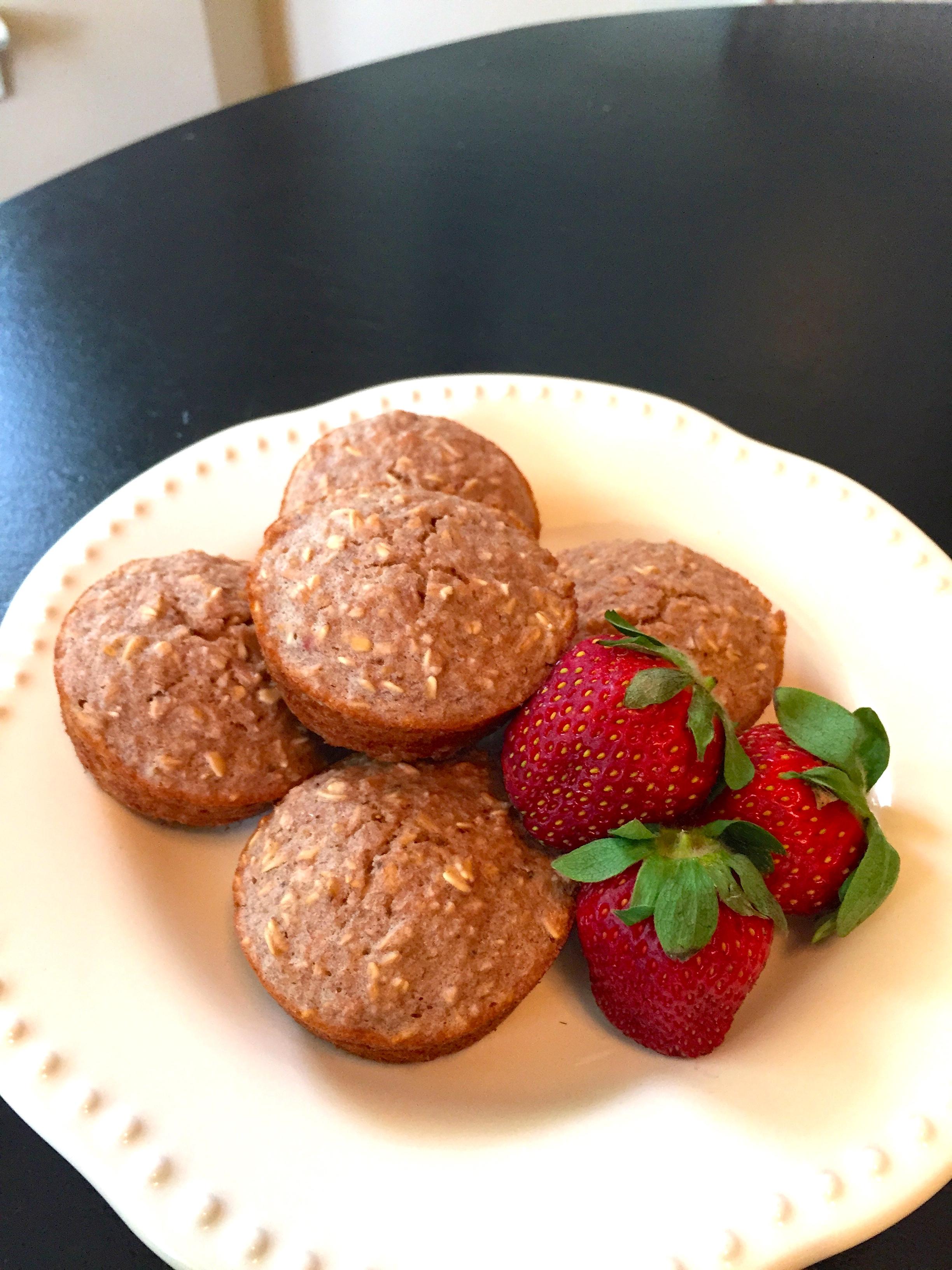 Banana Strawberry Oatmeal Muffins Recipe — Dishmaps