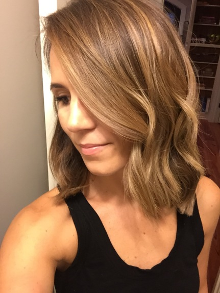 medium length bob with balayage color