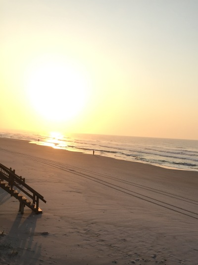 sunrise over topsail island