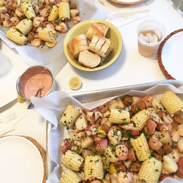 family style meal; shrimp boil; lowcountry boil