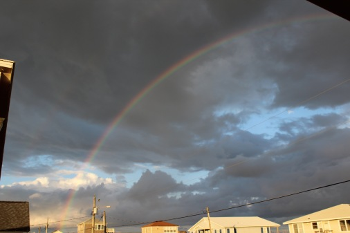 rainbow in topsail island