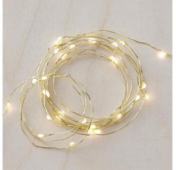gold indoor Christmas lights