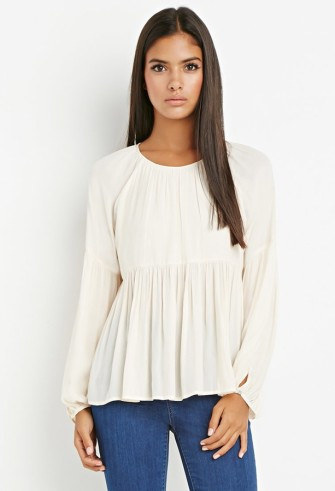 fall fashion; peasant blouse