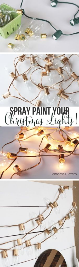 spray paint Christmas lights