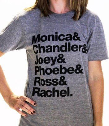 Monica, Chandler, Joey, Phoebe, Ross and Rachel; Friends shirt for sale