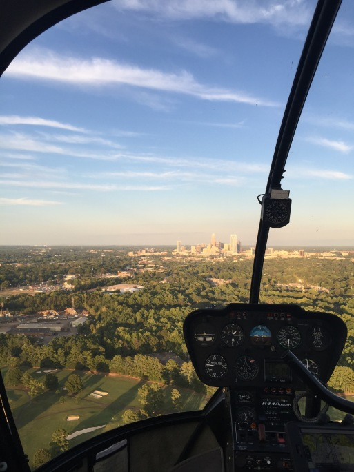 helicopter ride over charlotte