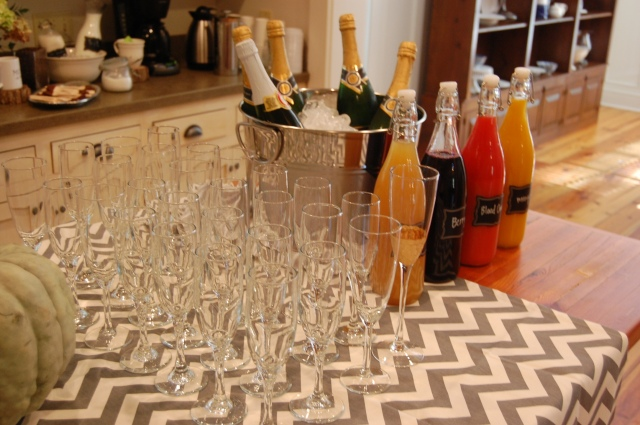 mimosa bar for baby shower