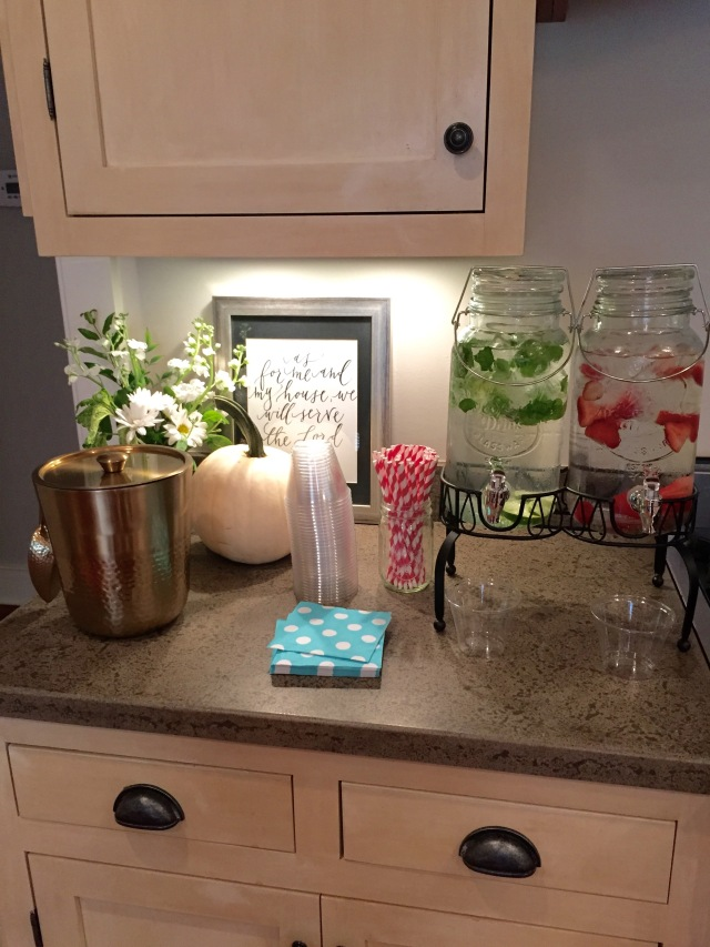 fruit water for baby girl shower