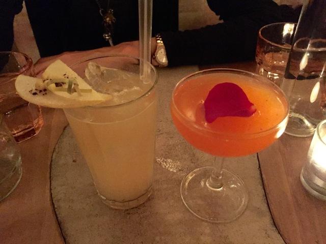 cocktails at Korean restaurant in Paris