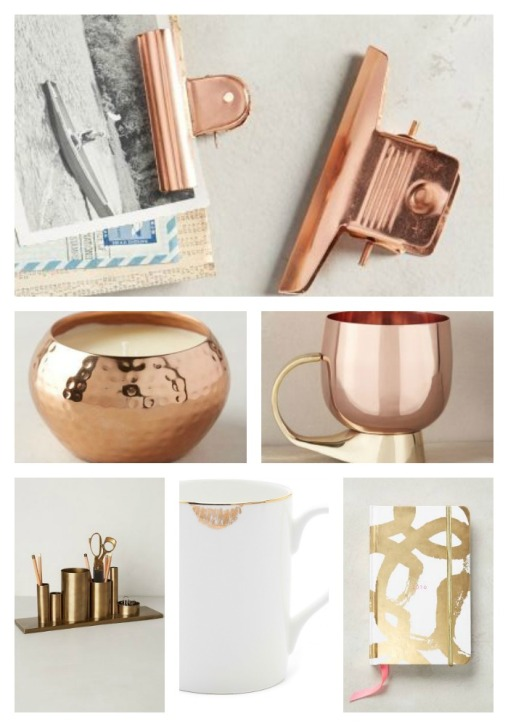 gold and copper gift ideas