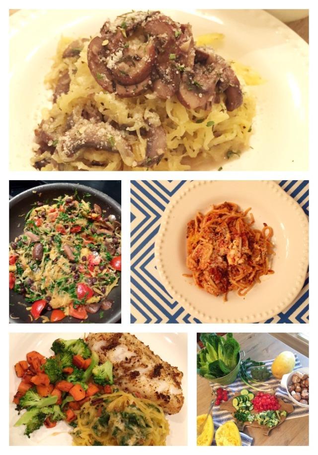 spaghetti squash recipes; healthy spaghetti