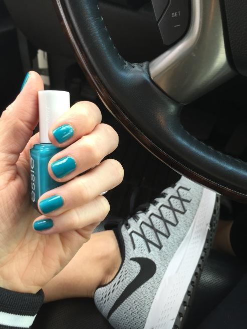 Essie turquoise nail polish