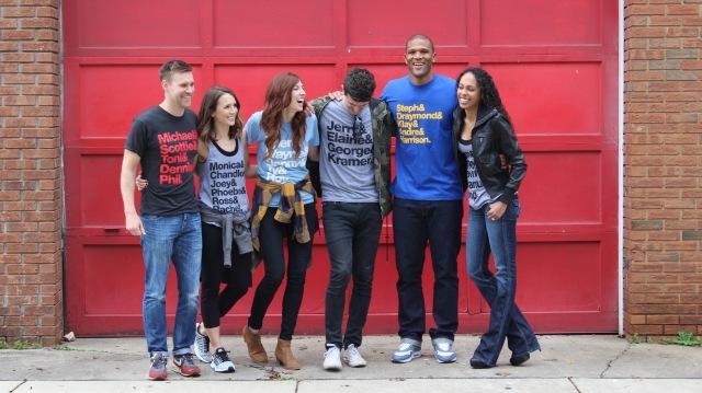Honor Roll Designs; Friends t-shirt; Chicago Bulls t-shirt; Seinfeld t-shirt; Warriors t-shirt; Spurs t-shirt