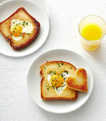 Love Toast; egg in a hole with a heart