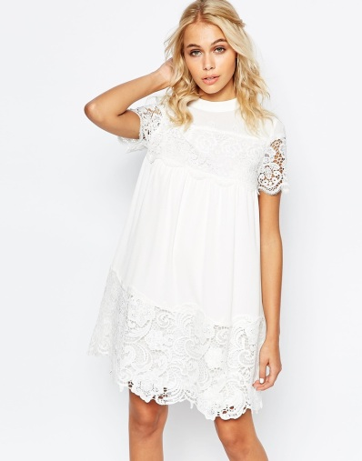 white crochet dress for spring and summer