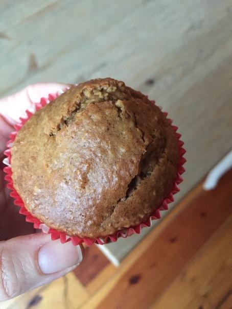 gluten-free dairy-free peanut butter banana muffin