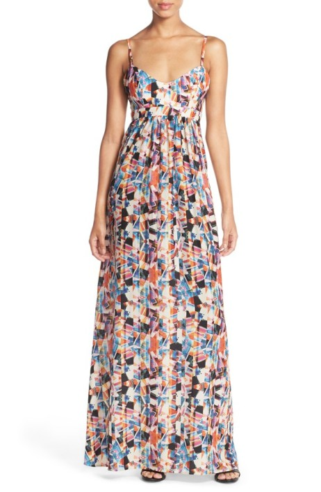 patterned maxi dress from Nordstrom