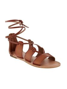 flat brown gladiator sandal