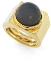 gold and stone statement ring