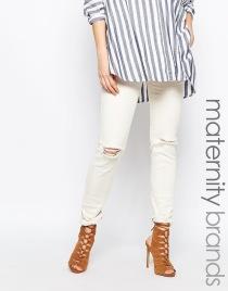 Asos maternity white jeans