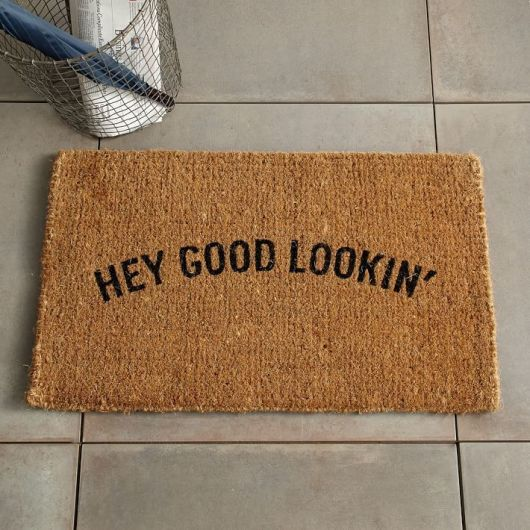 front door mat from West Elm