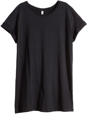 black t-shirt tunic from H and M
