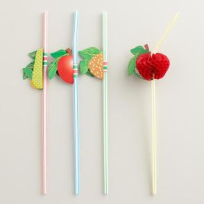 fruit straws; Summer straws; fun straws for cocktails or kids
