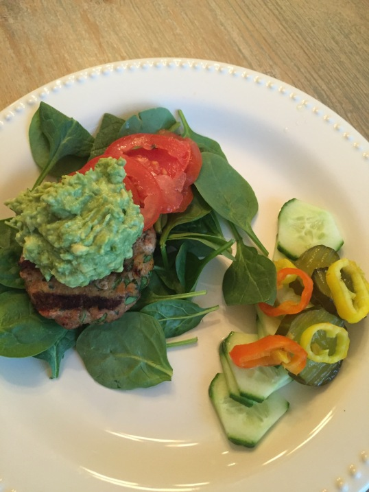 paleo meal; sweet potato turkey burger