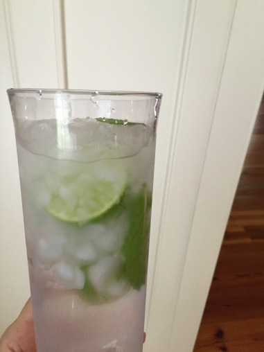 lime mint infused water