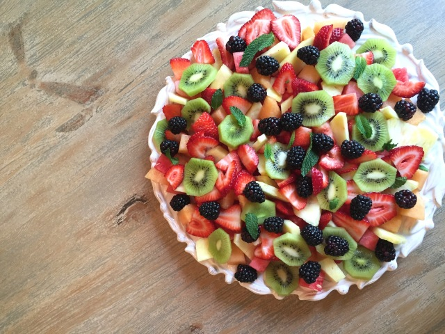 fruit dessert; healthy dessert idea; clean eating