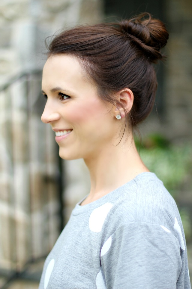 brunette hair updo