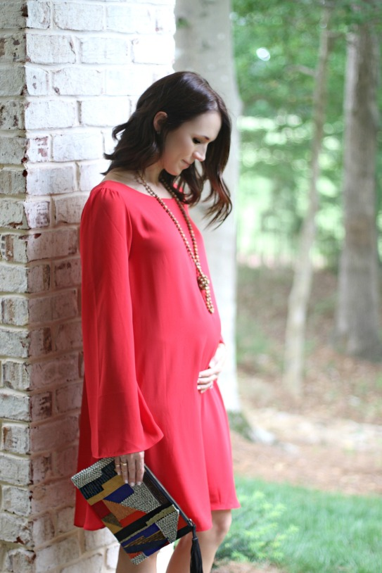 maternity dress outfit; maternity style; 17 weeks pregnant