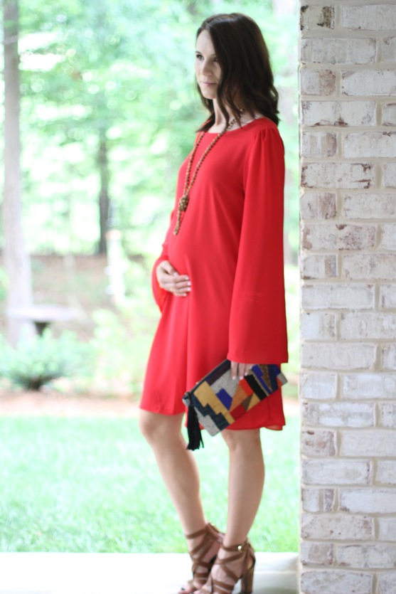 Pink Blush Maternity; dressing the bump; 17 weeks pregnant bump