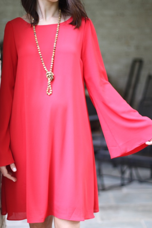 red maternity dress outfit